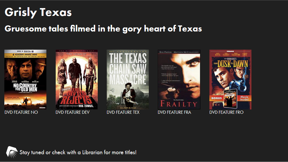 Grisly Texas: Movies filmed in the gory heart of Texas slide