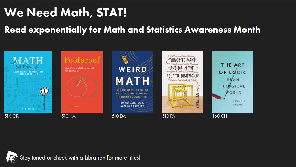 We Need Math, STAT! slide