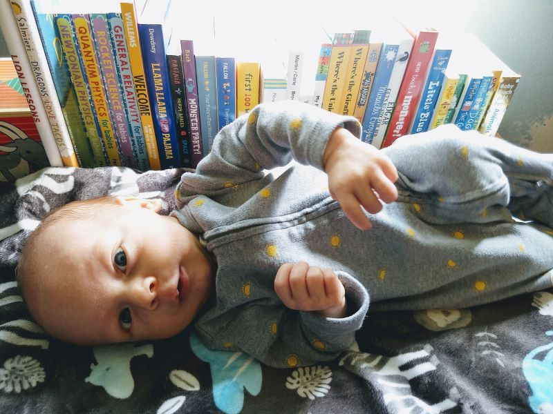 Baby Louie and his books